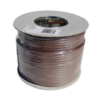 RG6 Coax Aerial Cable 100 Metres in Brown
