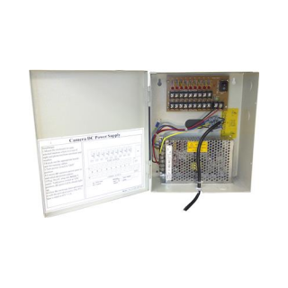 9 Out 10A 12V Waterproof CCTV Power Supply
