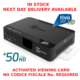 tivusat receiver and working card
