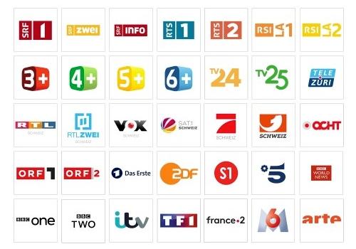 Swiss TV Channels in UK